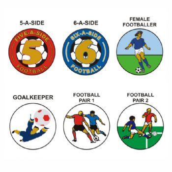 Football B pk of 5 25mm centres-